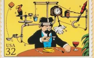 Rube Goldberg Stamp