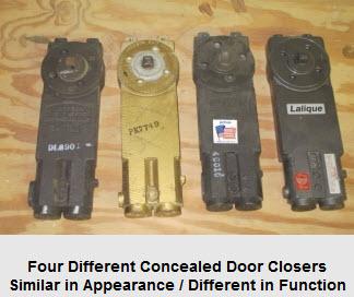 Concealed Door Closers