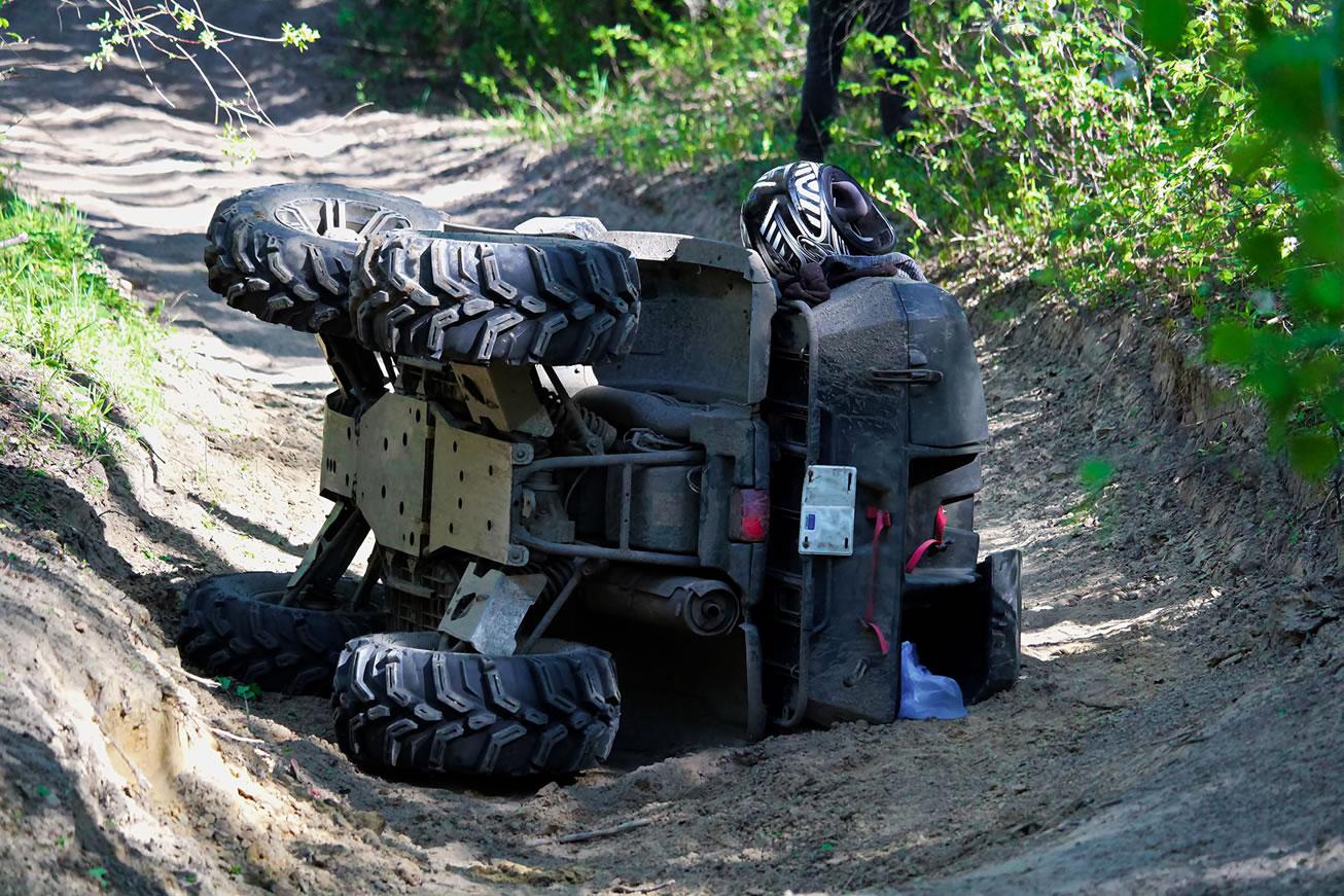 ATV upside down Photo1