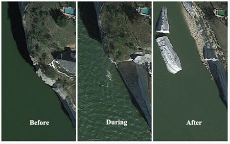 before during and after satellite images