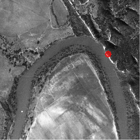 satellite image of the river photo