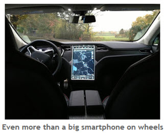 image of smarphone in a vehicle
