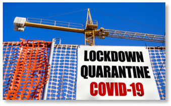 COVID 19 lockdown sign image