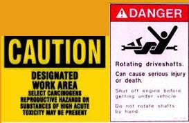 Sample Warning Sign