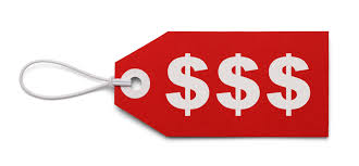Dollar price tag sign