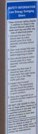 low energy Door System