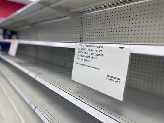 Image of empty shelves