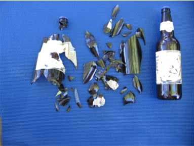 exploded bottle